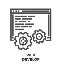 web develop line icon vector image vector image