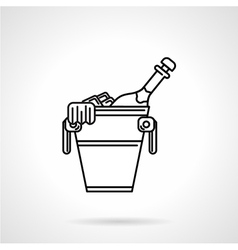 Champagne black line icon vector image