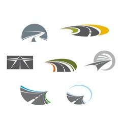 Road symbols and pictograms vector