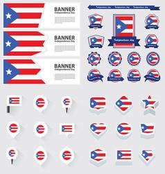 SET PUERTO RICO vector image
