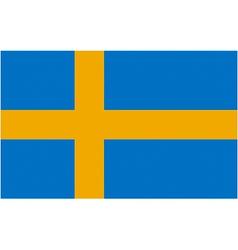 swedish flag vector image vector image