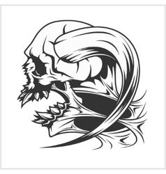Zombie Skull Head vector image