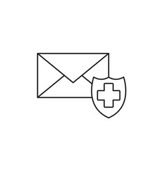 email protection icon vector image