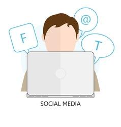 icon Social Media vector image