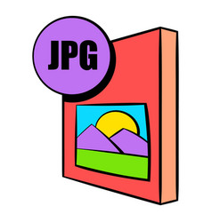jpg file icon cartoon vector image