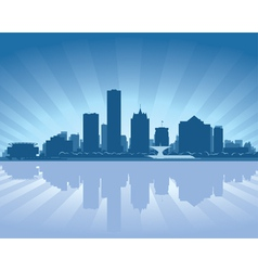 milwaukee wisconsin skyline vector image vector image
