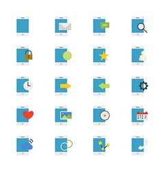 Mobile Phone Device Flat Icons color vector image vector image