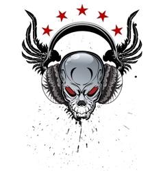 Skull Music vector image vector image