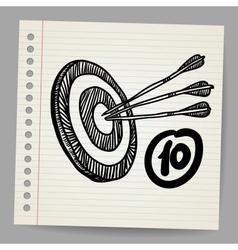 Target mission doodle vector image