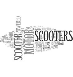 A guide to motor scooters text word cloud concept vector