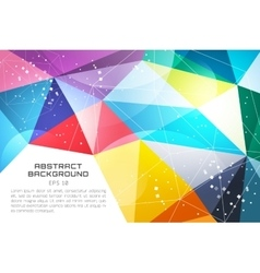 Abstract background wallpaper Triangle vector