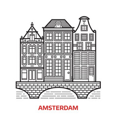 amsterdam landmark icon vector image
