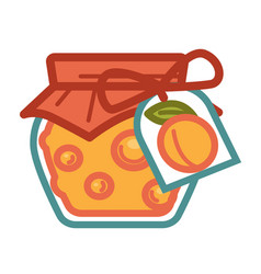 apricot jam in jar vector image