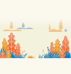 autumn forest nature leaves flat vector image