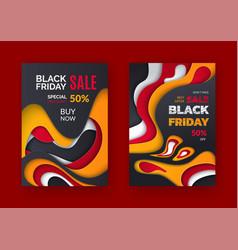 black friday sale best offer 50 percent price off vector image