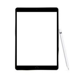 black tablet computer vector image
