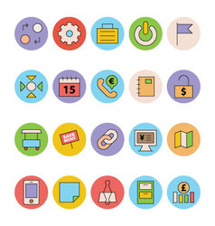 Business and Office Colored Icons 10 vector image