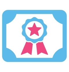 Certificate icon from Business Bicolor Set vector image