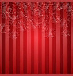 christals hanging on a red background vector image