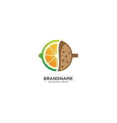 Coffee fruit logo design and fruit symbol vector