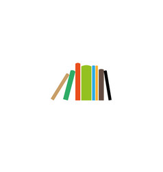 creative colorful book collection logo vector image