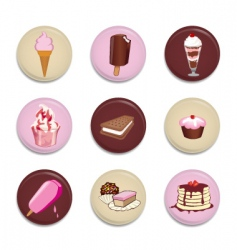 dessert buttons vector image vector image