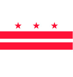 District columbia flag united states of vector