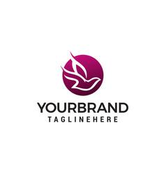 Dove bird flying logo design concept template vector