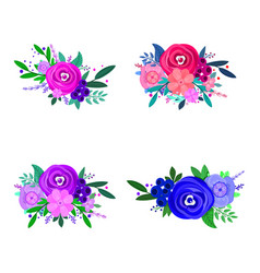 flowers decorative design elements for vector image