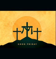 good friday or easter day background design vector image