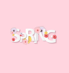 hello spring banner greetings design background vector image