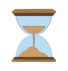 hourglass antique clock vector image