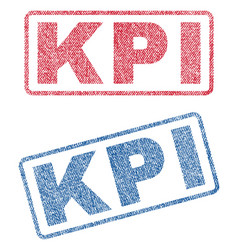 Kpi textile stamps vector