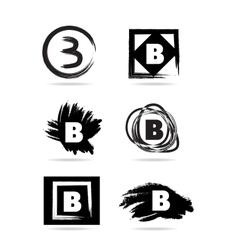Letter B grunge logo icon vector