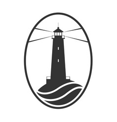 lighthouse and sea vector image