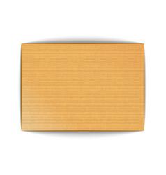 material realistic blank cardboard sheet mockup vector image