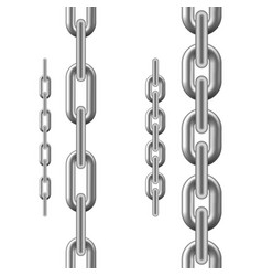 metallic chain chain isolated on white background vector image
