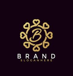 Minimalist beauty love fashion modern logo icon vector