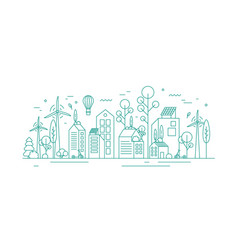modern environmentally friendly city vector image