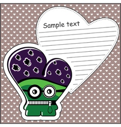 Monster with message cloud vector image