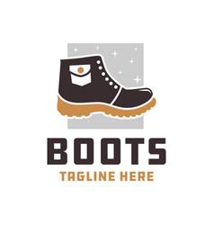 Mountain boots fashion logo vector