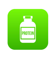 nutritional supplement for athletes icon digital vector image