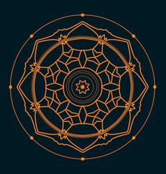 Octagonic mandala sacred geometry vector