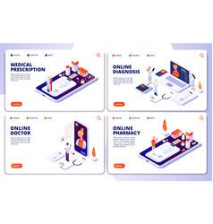 online pharmacy online doctor web vector image