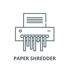 Paper shredder line icon linear concept vector