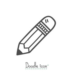 pencil doodle icon vector image