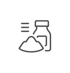 Powder and jar line icon vector
