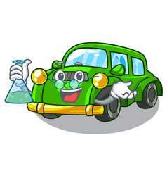 professor miniature classic car in shape vector image