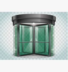 Revolving door shopping center vector