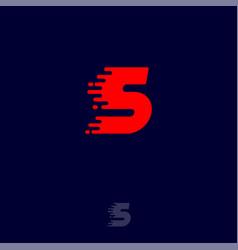 S letter winds movement dynamic logo velocity vector